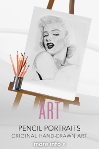 Kinga Portrait Artist Long Island New York - Original Hand-drawn Pencil Art Portraits