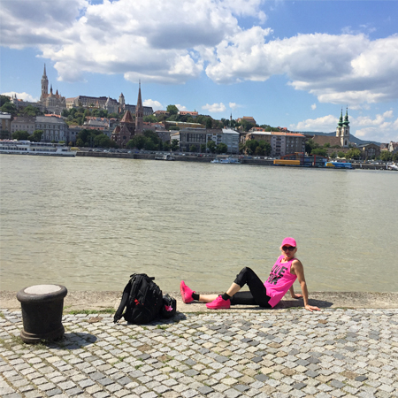 Edina Kinga Agoston at the River Danube in Budapest, Hungary