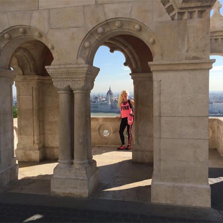Edina Kinga Agoston at Fisherman's Bastion in Budapest, Hungary