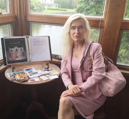 Edina Kinga Agoston Pencil Portrait Artist at Water Mill Museum